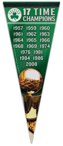 Boston Celtics 17-Time NBA Champions Premium Felt Pennant - Wincraft Inc.