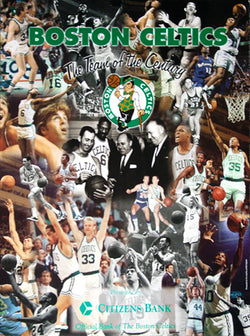 "Boston Celtics ""Team of the Century"" 1946-1999 All-Time Greats Poster - Citizens Bank 1999"