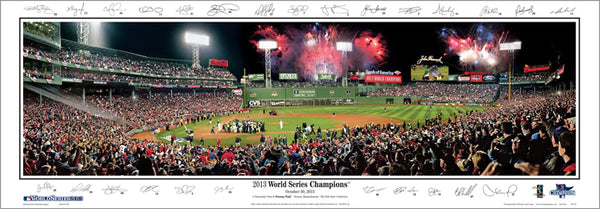"Boston Red Sox ""Celebration 2013"" (World Series Gm. 6) Panoramic Poster w/26 Signatures (MA-353)"