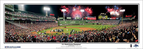 "Boston Red Sox ""Celebration 2013"" (World Series Gm. 6) Panoramic Poster Print - Everlasting (MA-350)"