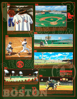 Boston Red Sox Historic Art Collage (1941-86) Wall Poster - Bill Goff Inc. 1998