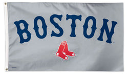 "Boston Red Sox ""BOSTON"" Official 3'x5' Deluxe-Edition Team Flag - Wincraft Inc."