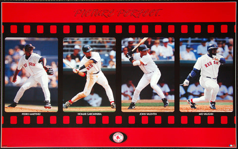 "Boston Red Sox ""Picture Perfect"" Poster (Pedro Martinez, Nomar, Valentin, Vaughn) - Costacos 1998"