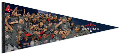 Boston Red Sox 2018 World Series CELEBRATION Premium 17x40 XL Felt Pennant - Wincraft