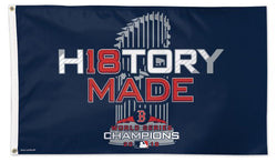 "Boston Red Sox ""History Made"" 2018 World Series Champions Official MLB Baseball DELUXE 3'x5' Team Flag - Wincraft Inc."