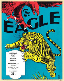 Boston College The Eagle 1947 Vintage Program Cover Poster Print - Asgard Press