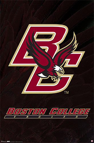 Boston College Eagles Official NCAA Team Logo Poster - Costacos Sports