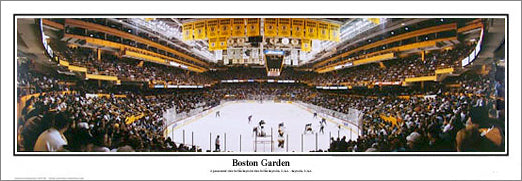 Boston Garden 1995 Bruins Final Regular-Seasion Game Panoramic Poster Print - Everlasting Images
