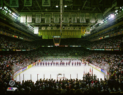 Boston Garden Bruins Game Night (c.1990) Premium NHL Poster Print - Photofile Inc.