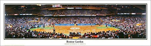 Boston Celtics Boston Garden Game Night (1992) Panoramic Poster Print - Everlasting Images