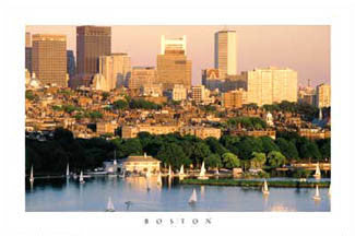 "Boston, MA ""Back Bay Sunset"" - Portal Publications 2004"