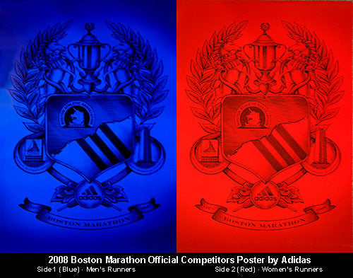 Boston Marathon 2008 Competitors Poster - Adidas