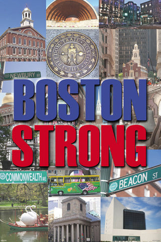 Boston Strong Boston, Massachussetts City Collage Poster - Pyramid America