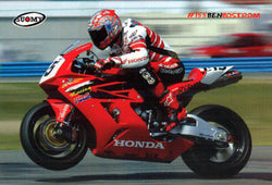 "Ben Bostrom ""AMA Superbike Action"" Honda Motorcycle Racing Poster  - Suomy"