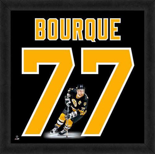 "Ray Bourque ""Number 77"" Boston Bruins FRAMED 20x20 UNIFRAME PRINT - Photofile"