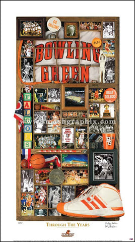 "Bowling Green State University Women's Basketball ""Through the Years"" Premium Poster Print - Smashgraphix Inc."