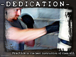 "Boxing ""Dedication"" Motivational Inspirational Poster - Jaguar Inc."