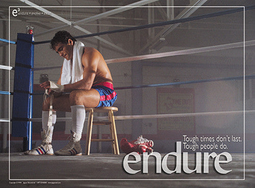 "Boxing ""Endure"" (Practice Makes Perfect) Motivational Poster - Jaguar Inc."
