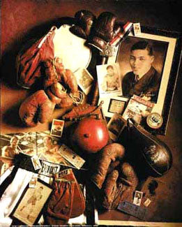 "Vintge Boxing Memorabilia Collage ""Boxing Memories"" Poster by Michael Harrison"