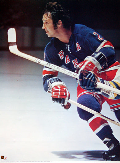"Brad Park ""Action"" New York Rangers Portnoy Collection Poster - Sports Posters Inc. 1973"