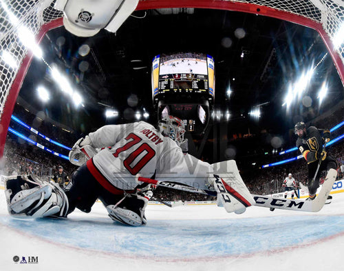 "Braden Holtby ""The Save"" (2018 Stanley Cup Game 2) Washington Capitals Premium 16x20 Poster (Netcam View)"