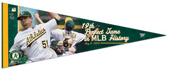 Dallas Braden Perfect Game Commemorative Pennant LE /500 - Wincraft