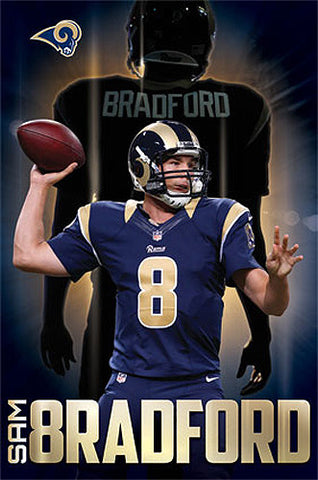 "Sam Bradford ""Golden Great"" St. Louis Rams Official NFL Poster - Costacos 2014"