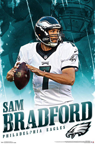 "Sam Bradford ""Soaring Eagle"" Philadelphia Eagles NFL Action Poster - Trends International 2015"