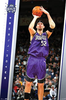 "Brad Miller ""Action"" Sacramento Kings NBA Basketball Poster - Costacos 2005"