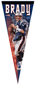 "Tom Brady ""Signature"" Premium Collector's Pennant (L.E. /2,008)"