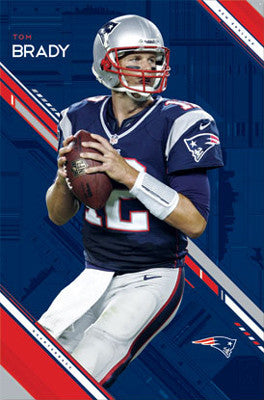 "Tom Brady ""Superstar"" New England Patriots Action Poster - Costacos 2012"
