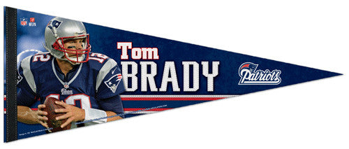 "Tom Brady ""Game Night"" Premium NFL Felt Collector's Pennant (2012) - Wincraft"