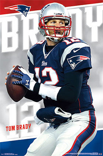 "Tom Brady ""Gunslinger"" New England Patriots NFL Action Poster - Costacos Sports"
