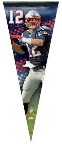 "Tom Brady ""Signature Series"" New England Patriots Premium Felt Collector's Pennant - Wincraft"