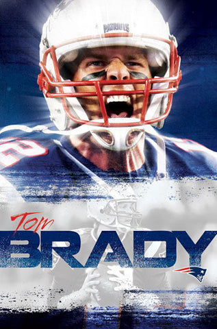 "Tom Brady ""Intensity"" New England Patriots Official NFL Football Wall Poster - Trends International"