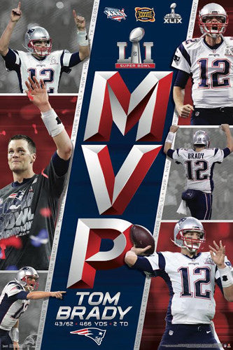 Tom Brady Super Bowl LI MVP New England Patriots Commemorative Poster - Trends Int'l 2017