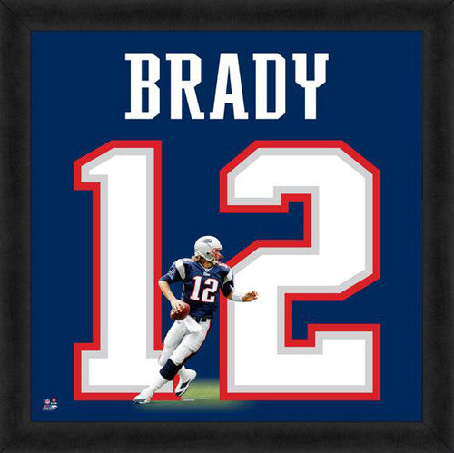 "Tom Brady ""Number 12"" New England Patriots FRAMED 20x20 UNIFRAME PRINT - Photofile"
