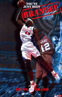 "Elton Brand ""Branded"" L.A. Clippers NBA Basketball Poster - Starline 2003"