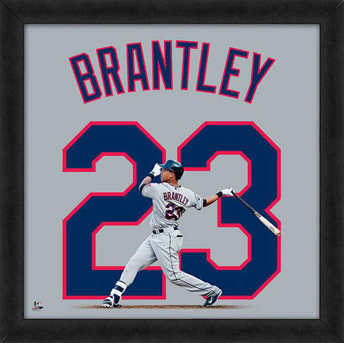"Michael Brantley ""Number 23"" Cleveland Indians FRAMED 20x20 UNIFRAME PRINT - Photofile"