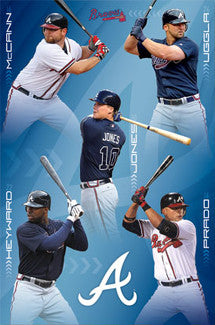 "Atlanta Braves ""Fantastic Five"" (2011) Poster - Costacos Sports"