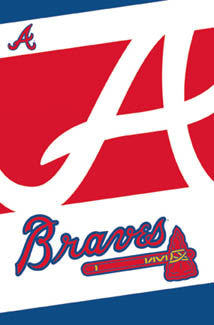 Atlanta Braves Official MLB Logo Poster - Costacos Sports
