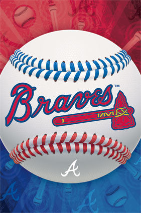 Atlanta Braves Official MLB Baseball Team Logo Poster - Costacos Sports
