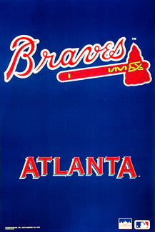 Atlanta Braves Official MLB Team Logo Poster - Starline 1993