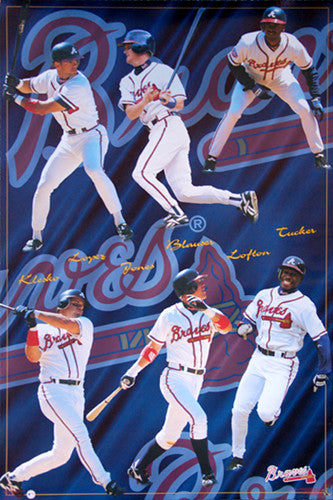 "Atlanta Braves ""Power and Speed"" (1997) 6-Player Poster - Costacos Brothers"