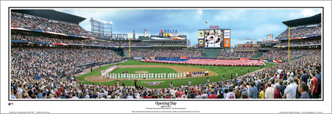 "Atlanta Braves ""Opening Day"" Turner Field Panoramic Poster Print - Everlasting Images"