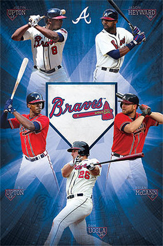 "Atlanta Braves ""Sluggers"" (2013) MLB Baseball Action Poster - Costacos 2013"