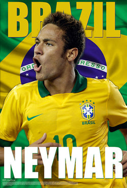 "Neymar ""Brazil Brilliance"" World Cup 2014 Soccer Action Poster - Starz"