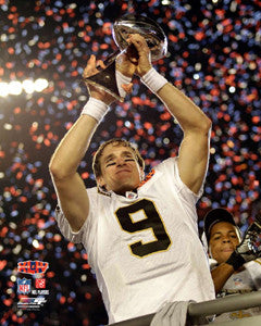 "Drew Brees ""Victory"" New Orleans Saints Super Bowl XLIV Premium Poster - Photofile 16x20"