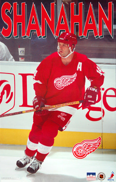 "Brendan Shanahan ""Action"" Detroit Red Wings NHL Hockey Poster - Starline 1997"