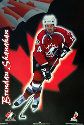 Brendan Shanahan Team Canada 1998 Hockey Action Poster - Trends International